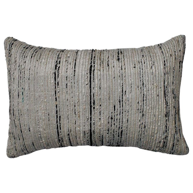 Image of Handmade Dhurrie Style Pillow