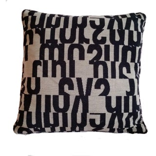 Taupe Maharam Letters Pillow Cover