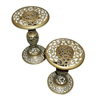 Brass Stool - Pair