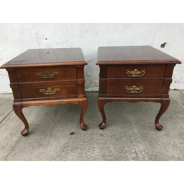 Image of Mersman Queen Anne End Tables - A Pair