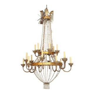 Large Early 19th Century Chandelier from Lucca