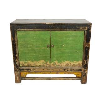Distressed Gansu Black Cabinet