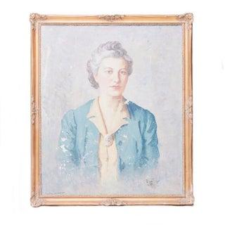 Vintage Grand Dame Oil Portrait