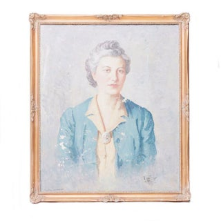 Vintage Grand Dame Oil Portrait