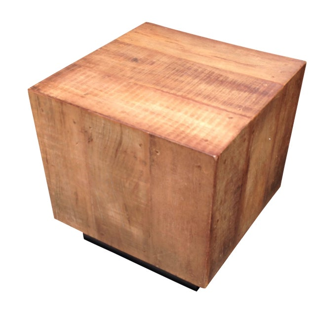 Cube side table chairish for Cube side table