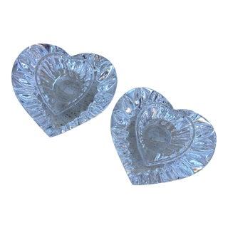 Mikasa Crystal Heart Candleholders - A Pair