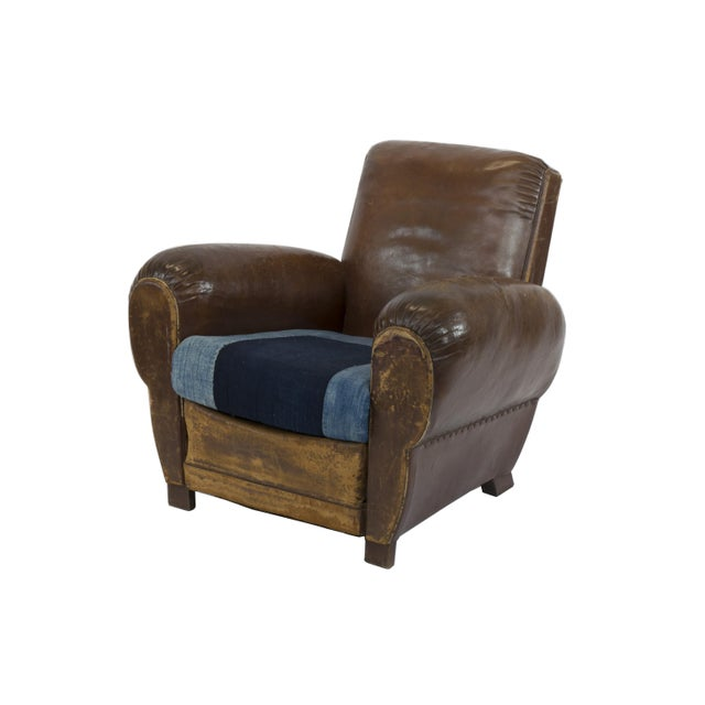 Large 1920's French Leather Club Chairs - Pair - Image 7 of 9