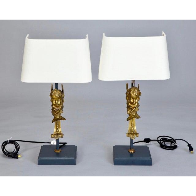 19th Century Italian Bronze Puti Cherub Table Lamps - A Pair - Image 2 of 5