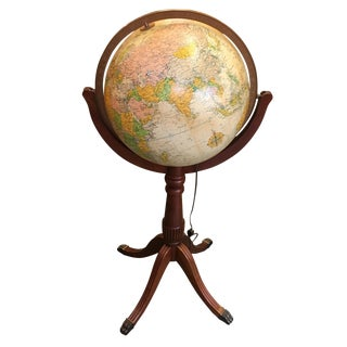 Vintage Replogle Lighted Globe