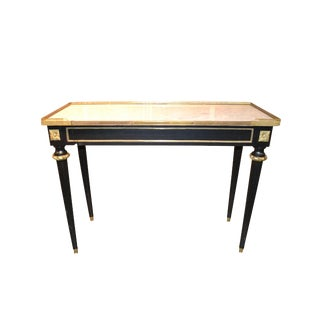 Mid-Century Black Lacquered Console