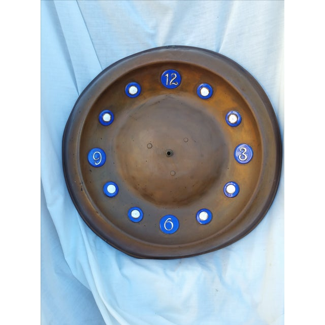 Image of Arts & Crafts Copper & Enamel Clock Face