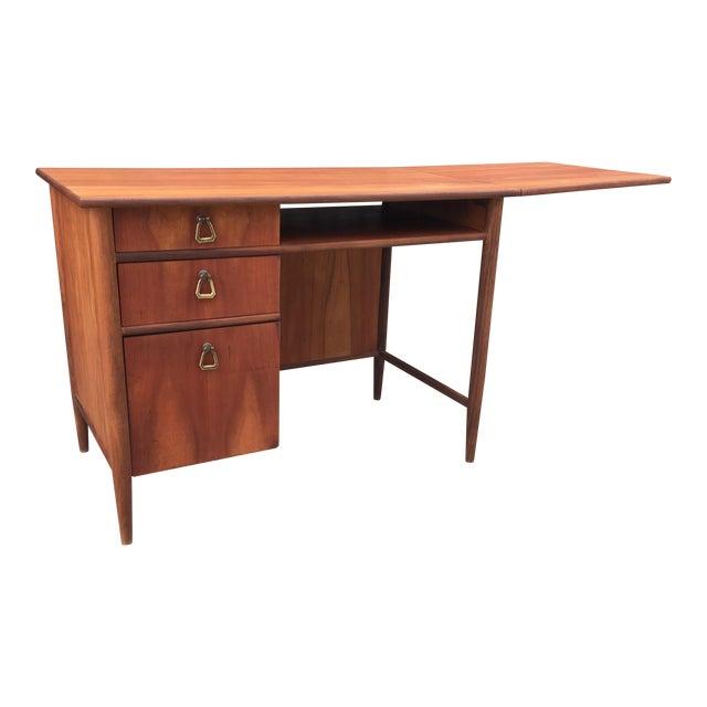 Mid Century Drop Leaf Desk With Brass Chairish