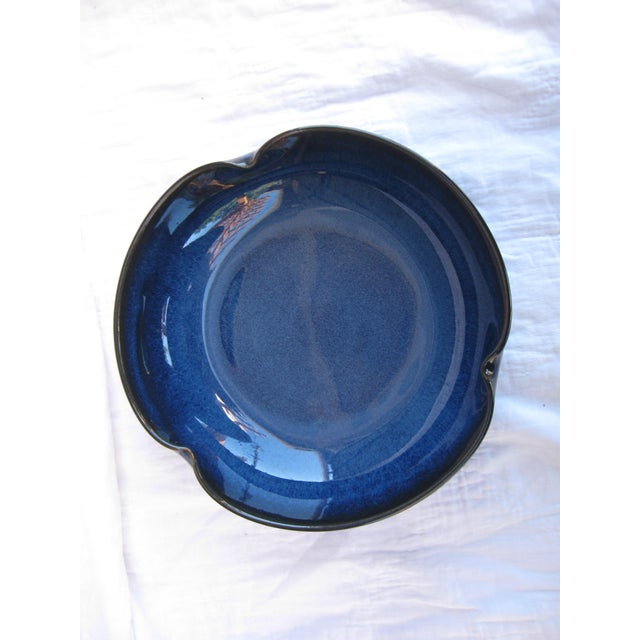 Indigo Pottery Catchall Bowl - Image 3 of 7