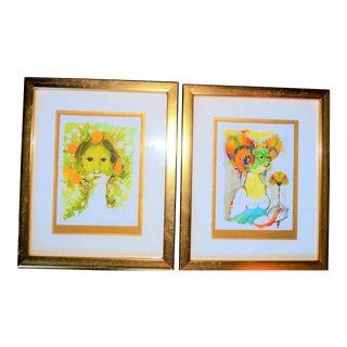 Bjorn Wiinblad Goddess Prints - A Pair