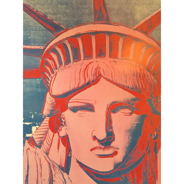 Andy Warhol Exhibition Poster Statue of Liberty - Image 4 of 4