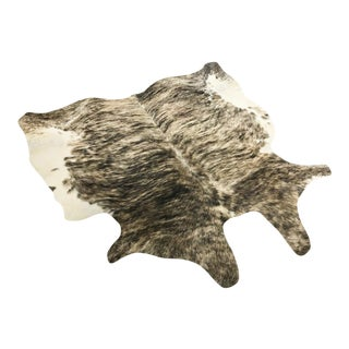 Grey Brindle Cowhide Rug - 6′2″ × 6′2″