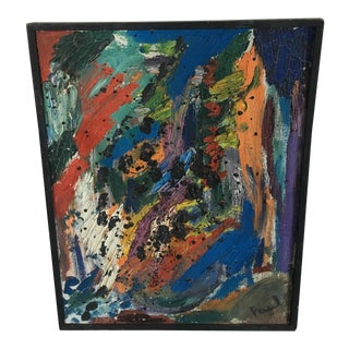 Paul Woodmere 1960 Abstract Painting