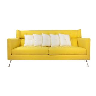 Louella Yellow Buttoned Sofa