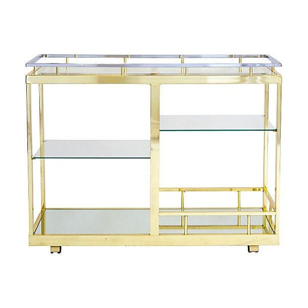 Image of Brass & Chrome Cocktail Trolly