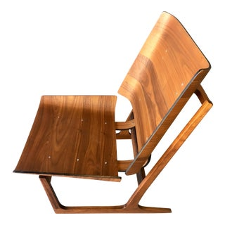 Grete Jalk Style Mid-Century Bent Walnut Side Chair