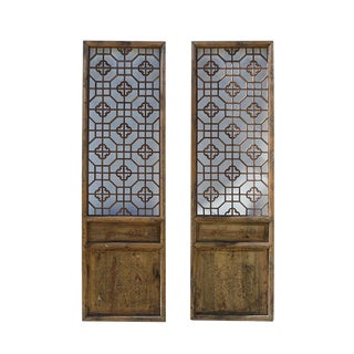 Chinese Geometric Wall Panels - A Pair