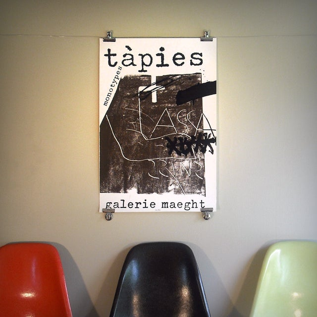 "Antoni Tapies ""Monotypes"" Poster, Galerie Maeght - Image 2 of 2"