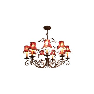 Iron Red And Gold Chandelier