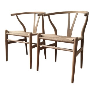 Hans Wegner Danish Modern Wishbone Chairs - A Pair