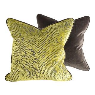 Palm & Velvet Pillows - Pair