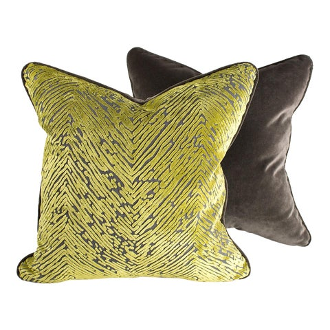 Image of Palm & Velvet Pillows - Pair