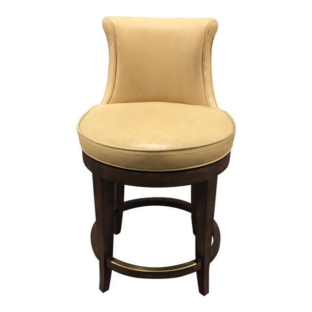 New Pearson Savannah Leather Swivel Counter Stool - Image 1 of 7
