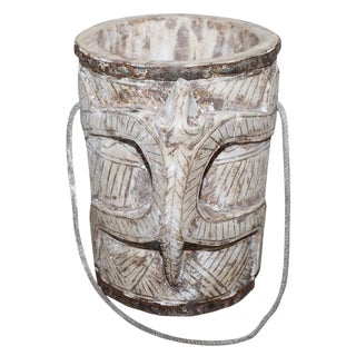 Bleached Teak Water Bucket