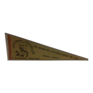 Vintage Martin Luther King Pennant, 1968