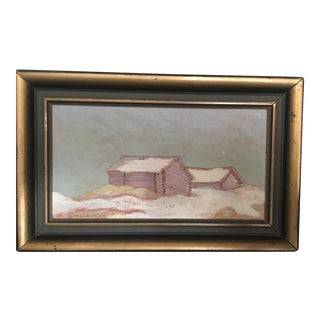 Vintage Swedish Country Painting