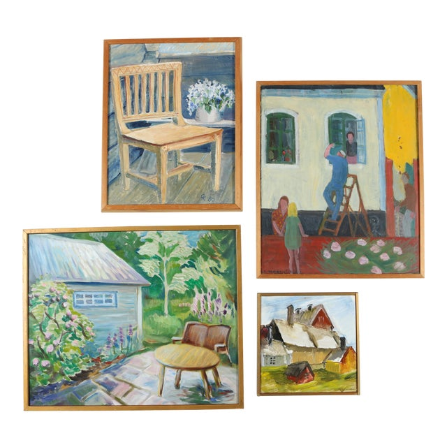 Gallery Wall Art Paintings - Set of 4 - Image 1 of 9