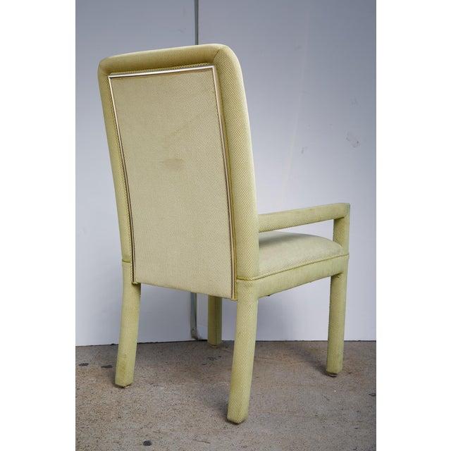 Velvet & Brass Detail Dining Chairs - Set of 8 - Image 7 of 9