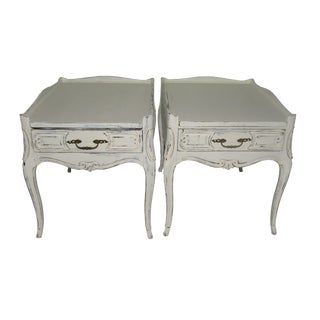 French Farmhouse Single Drawer Side Tables- A Pair