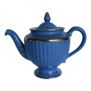 Hall Blue Ridged Teapot