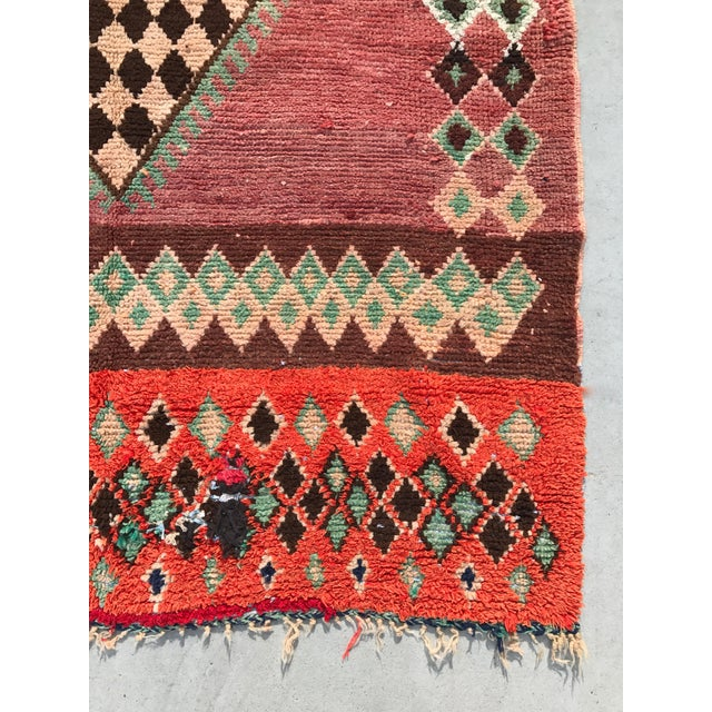 "Vintage Moroccan Boujad Rug - 4'9"" x 8'2"" - Image 4 of 7"
