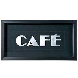 """Framed Vintage French Aluminum """"CAFE"""" Letters"""
