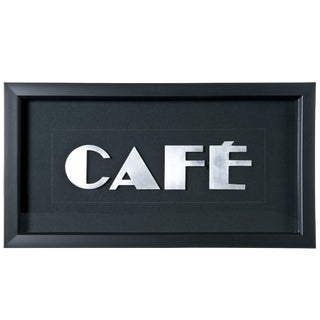"Framed Vintage French Aluminum ""CAFE"" Letters"