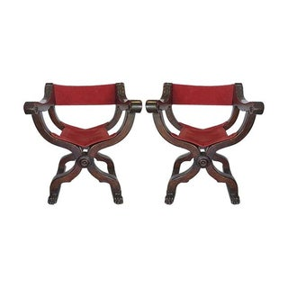 Antique Savonarola Chairs - A Pair