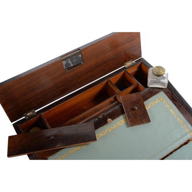 Antique Victorian Wooden Lap Desk - Image 4 of 9