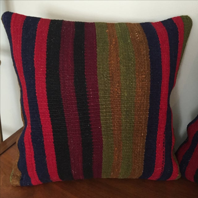 Vintage Kilim Throw Pillow (One Left, on Left) - Image 4 of 5