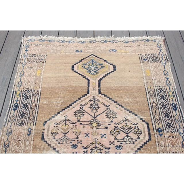 "Antique Persian Wool & Camel Hair Rug - 3'5""x5'1"""