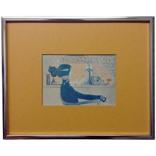 """Vintage Art Nouveau """"La Maison Modern"""" Lithograph"""