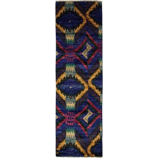 "Ikat, Hand Knotted Runner Rug - 2' 5"" x 8' 3"""