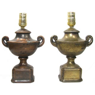 Antique Neoclassical Urn Lamps - A Pair
