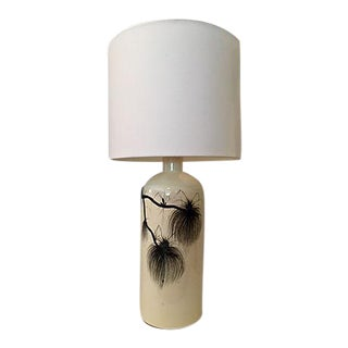Asian Hand Painted Ceramic Table Lamp