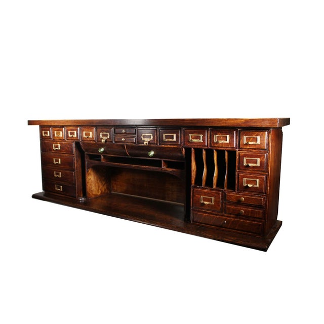 1900 Antique Oak Desk Top - Image 2 of 7